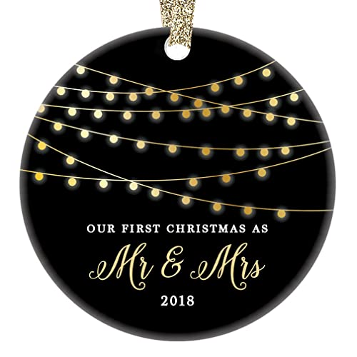 amazon com first christmas as mr mrs ornament 2018 1st married