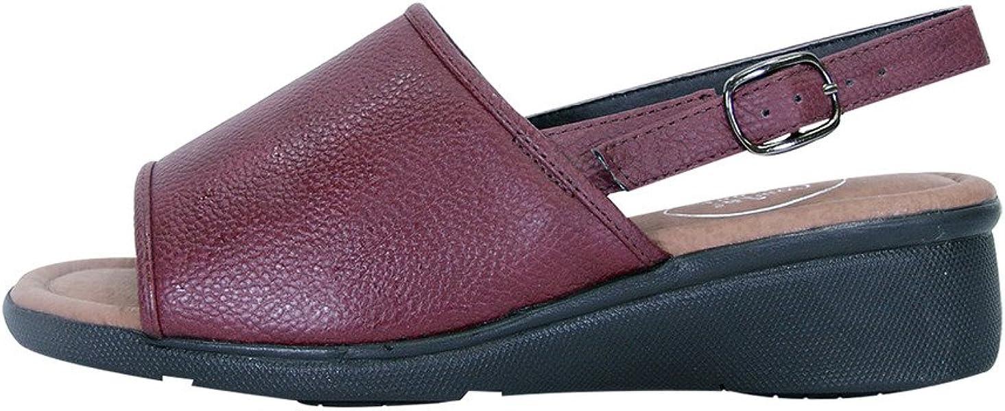 29293768cfee0 FIC Sally Women Wide Width Open-Toe Adjustable Slingback Sandal  (Size/Measurement Guide)