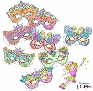 8 Masken * PRINZESSIN LILLIFEE * für Kindergeburtstag und Mottoparty ...