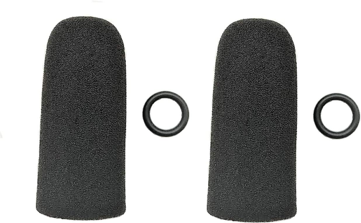 David Clark 2 Lightspeed Crystal Mic Two pack Pare-brise de rechange pour microphone daviation Bose
