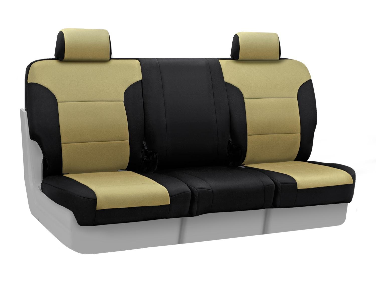 Neosupreme Tan with Black Sides CSC2A5FD9618 Coverking Custom Fit Center 40//20//40 Seat Cover for Select Ford Expedition Models