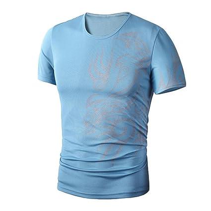 Camisas de hombre manga corta , Amlaiworld Camiseta de impresión de moda de verano para hombres