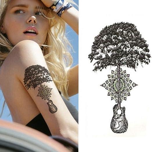 adgkitb 3 Piezas Cool Rose Flowers Tatuaje Temporal del Cuerpo ...