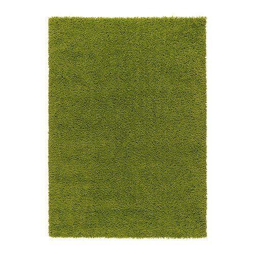 IKEA HAMPEN Langflor Teppich in leuchtend grün; (133x195cm)