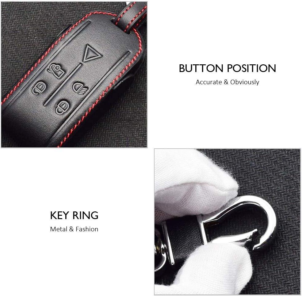 /Étui de protection en cuir v/éritable pour cl/é de voiture Jaguar XK XF XJ8 XK8 XRR 2007-2011 2012 2013