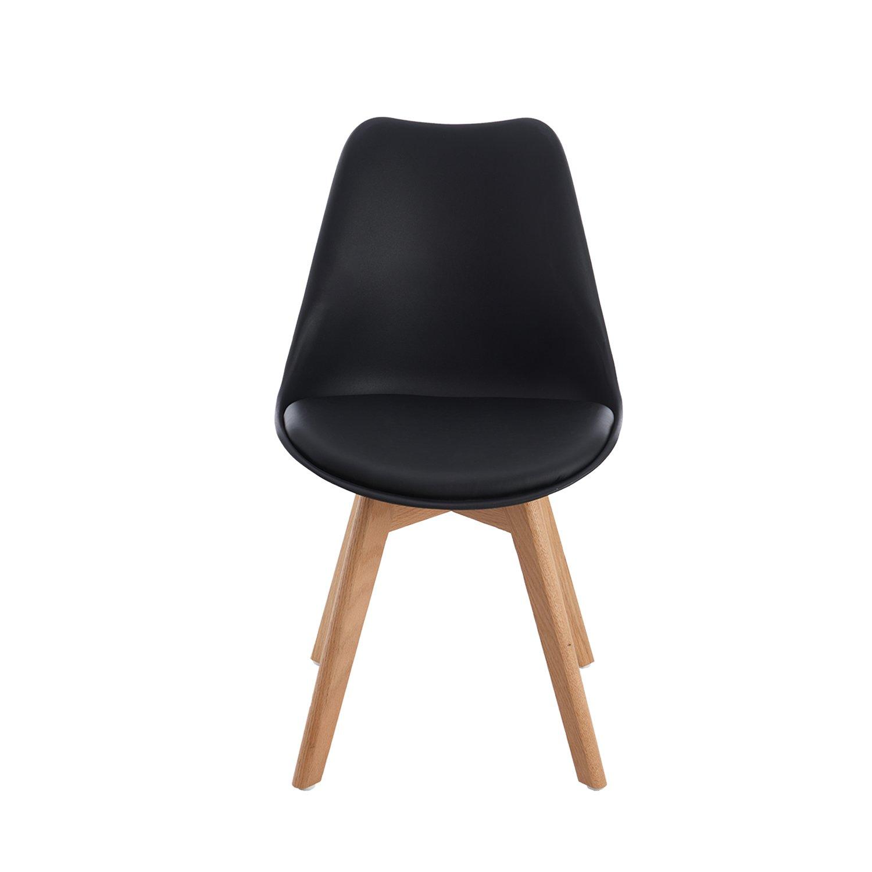 Pack de 4 tulip comedor silla de oficina con las piernas for Sillas de oficina de madera