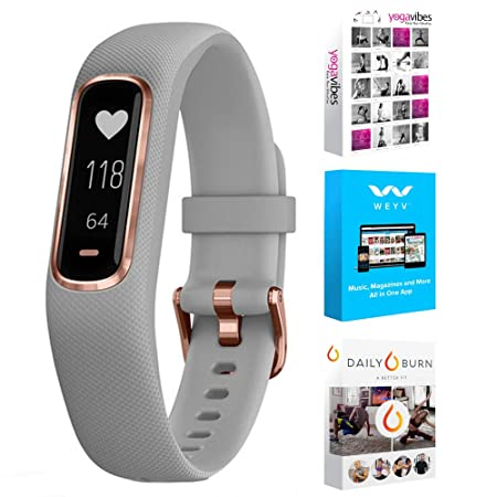 Garmin Vivosmart 4 Activity Fitness Tracker with Tech Smart USA Fitness Wellness Suite