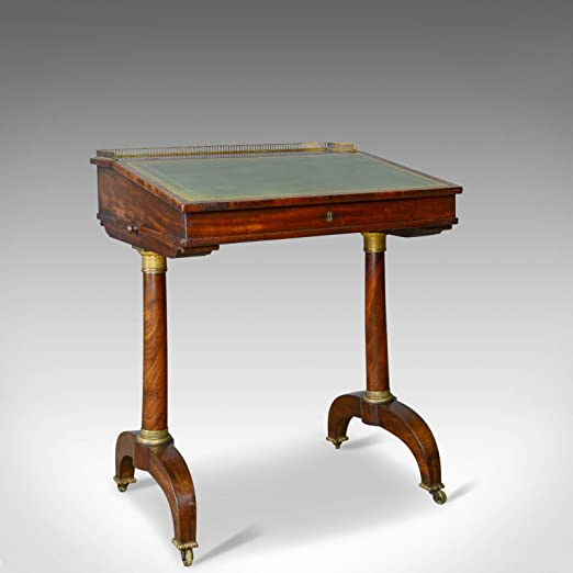 London Fine Antiques 1820 - Mesa de Escritorio (Madera de Caoba ...