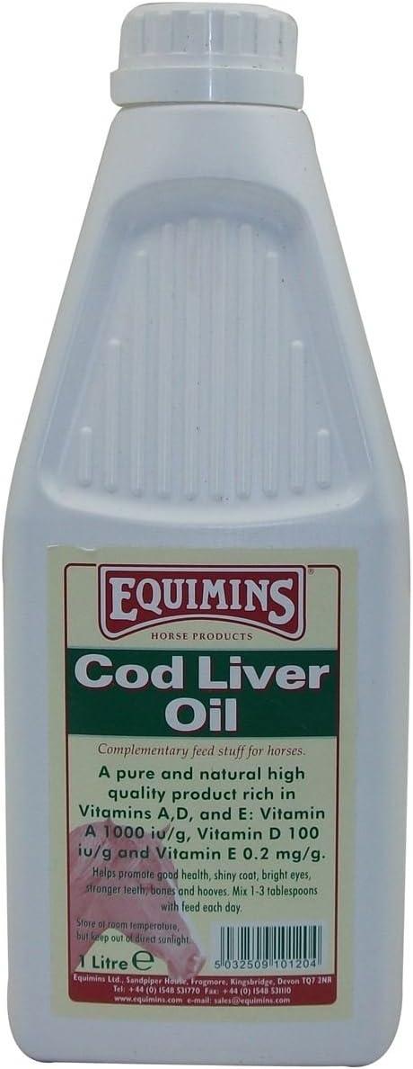 Equimins EQS0056 Aceite de hígado de Bacalao, Unisex Adulto, Transparente, 1 L