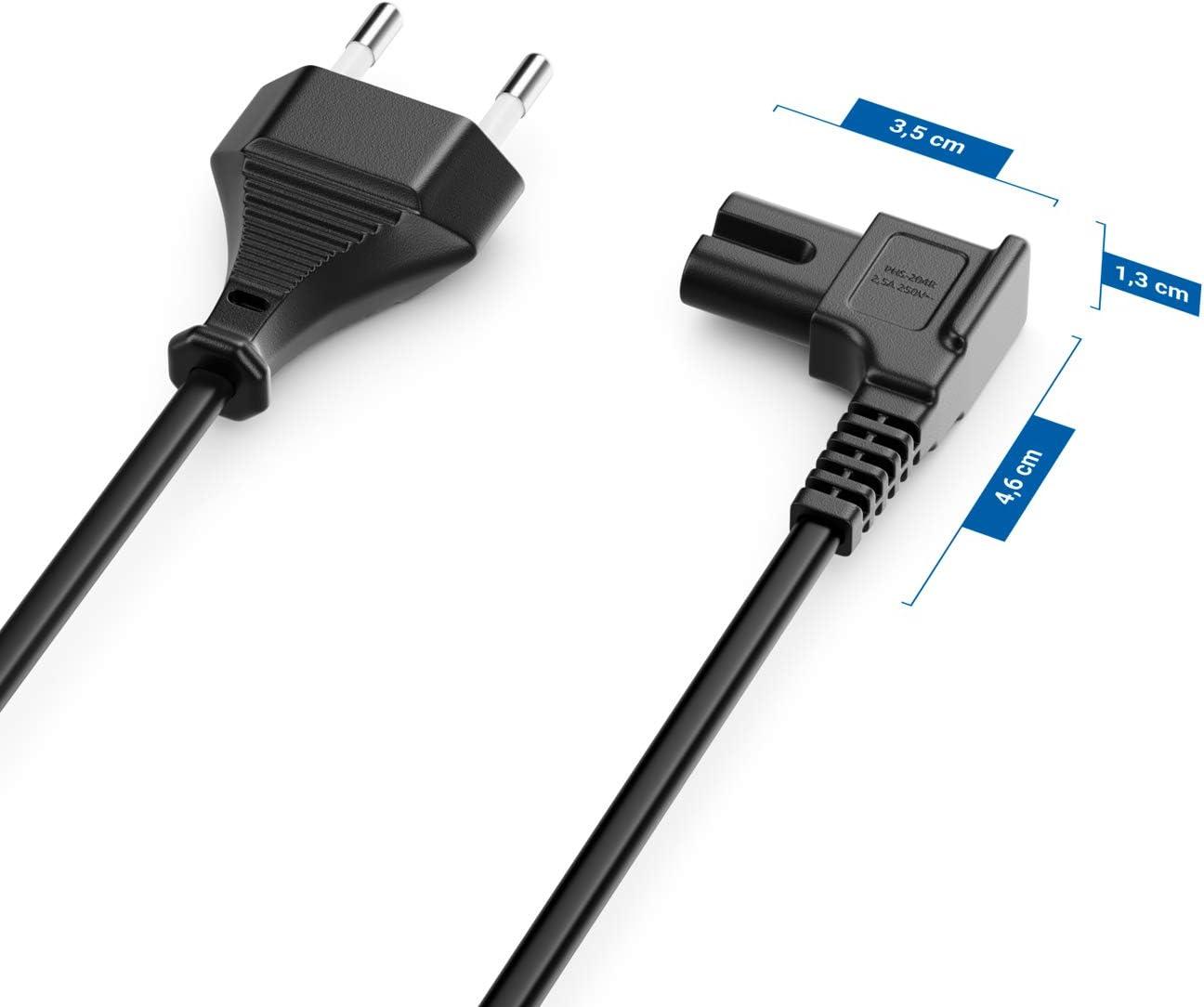 Schwarz deleyCON 5m Netzkabel Stromkabel Strom Kabel Stecker Typ C Eurostecker auf C7 Buchse Euro-Netzkabel Kleinger/ätekabel Euro 8 TV Blu-Ray Haushaltsger/äte Netzteile