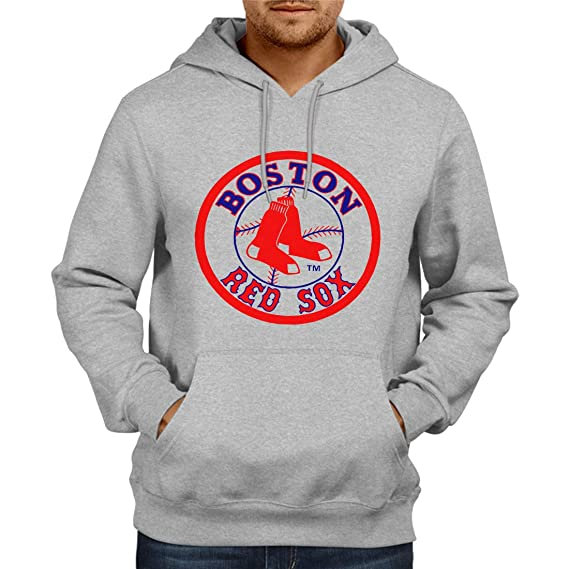 quality design 3ddf2 9730c Fashion And Youth Boston Red Sox Hoodie Grey: Amazon.in ...