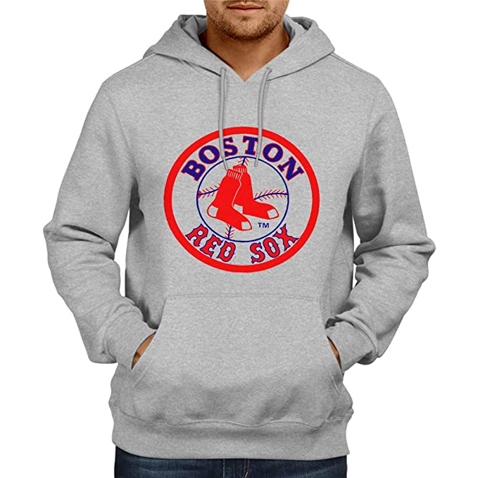 sneakers for cheap faaa6 c597b Fashion And Youth Boston Red Sox Hoodie Grey | Mens Hoodies ...