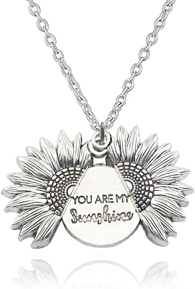 Sunflower My Fucking Sunflower ERMDSLV Sunshine Necklace Sunflower Silver Sunflower Necklace You Are My Sunshine Necklace Are