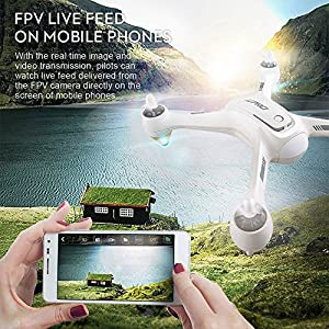 JJRC JJPRO X3 GPS Brushless Motor RC Quadcopter Drone with RTF WiFi FPV 1080P Full HD Camera, WIFI Camera Real Time Transmission, Flying Time Up to 18 Mins, White from JJRC