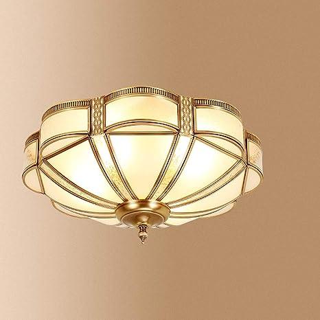 DULG Moderno metal de cobre Cristal claro y vidrio Lámpara ...
