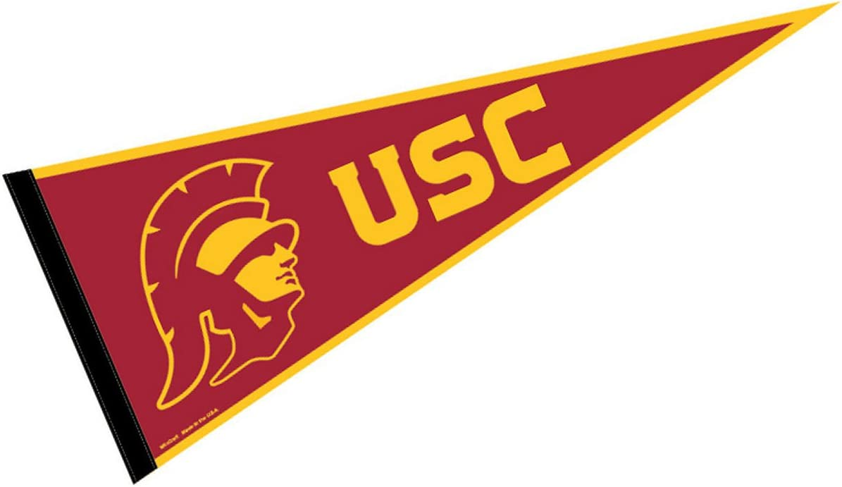 Amazon.com : College Flags & Banners Co. USC Trojans Pennant Full Size Felt  : Sports & Outdoors