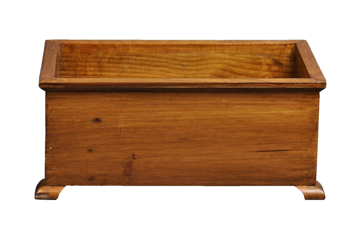 Antique Revival Medium French Style Planter, Natural Finish