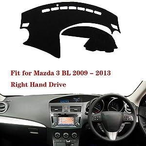 N2Qnice Car Auto Dashboard Cover for Mazda 3 BL 2009 2010 2011 2012 2013 Right Hand Drive Dashmat Pad Carpet Dash Mat