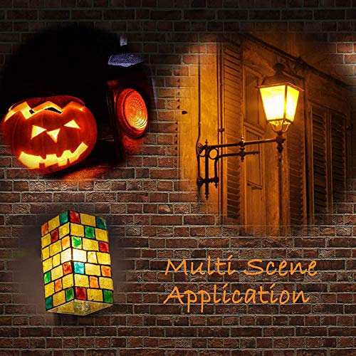 Flame Light Bulbs, FIMITECH LED Flame Effect Fire Light Bulbs, 4 Modes, E26 Standard Base, 108pcs LED Flame Light, Atmosphere Lighting, Decorative Light for Halloween,Christmas (2 Pack)