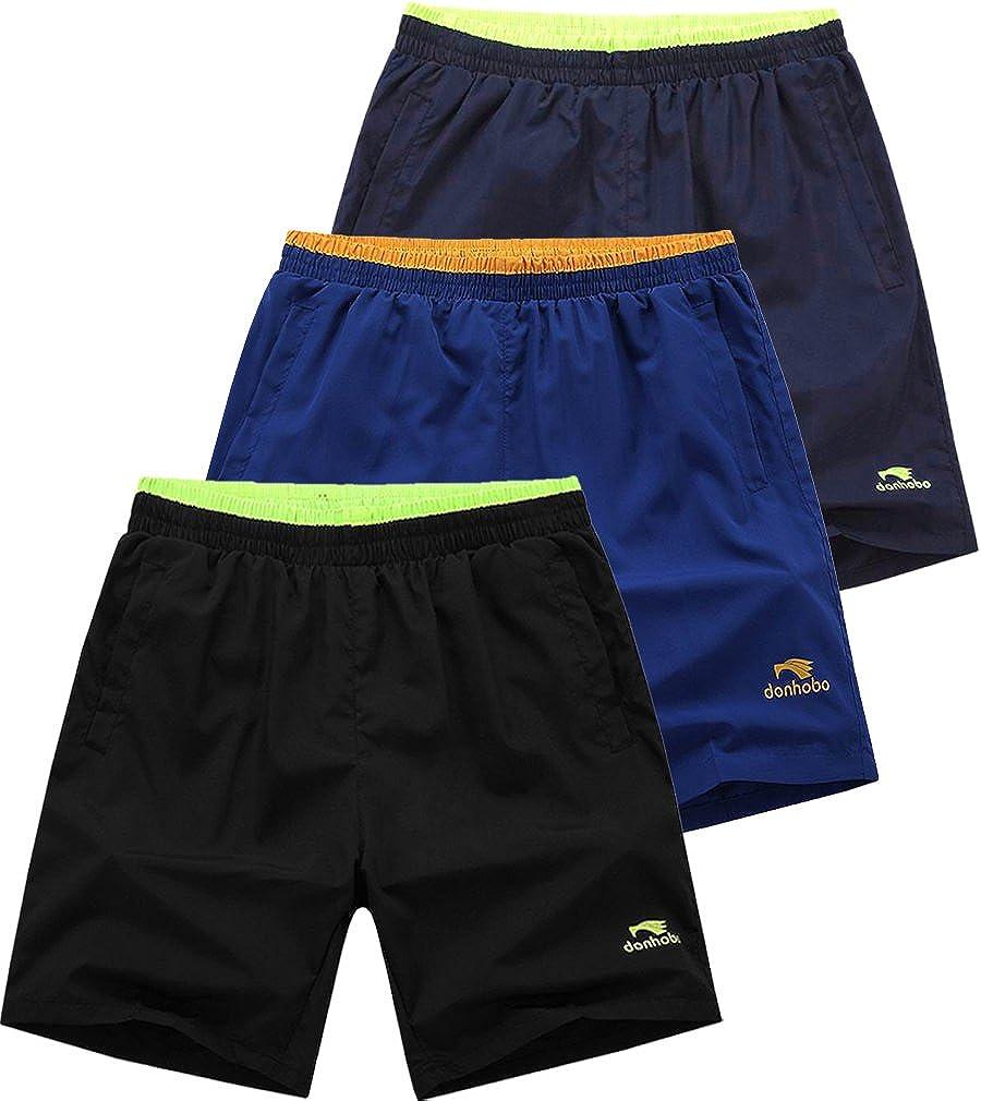 Mens Light Weight Gym Workout Running Solid Sport Shorts K05