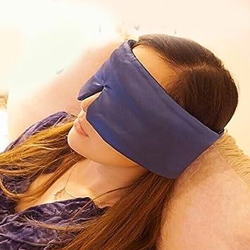Máscara de dormir suave de viaje con persiana, máscara de sueño de seda mejorada con