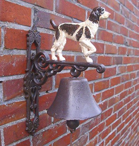 Türglocke verschiedene Dessins Gusseisen Antik nostalgie Stil Retro Bauernhof Tiere Feuerwehr ect. (Frosch) -