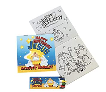 Buy HAPPY BIRTHDAY JESUS ACTIVITY BOOK WITH CRAYONS (12 SETS ...