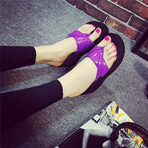 zapatos Moda la MEIDUO playa de 1005 femeninos de 6 ocasional cómodo alto de tacón 5cm verano zapatillas Chanclas alto tacón de zapatillas sandalias aUZxgCqdwq