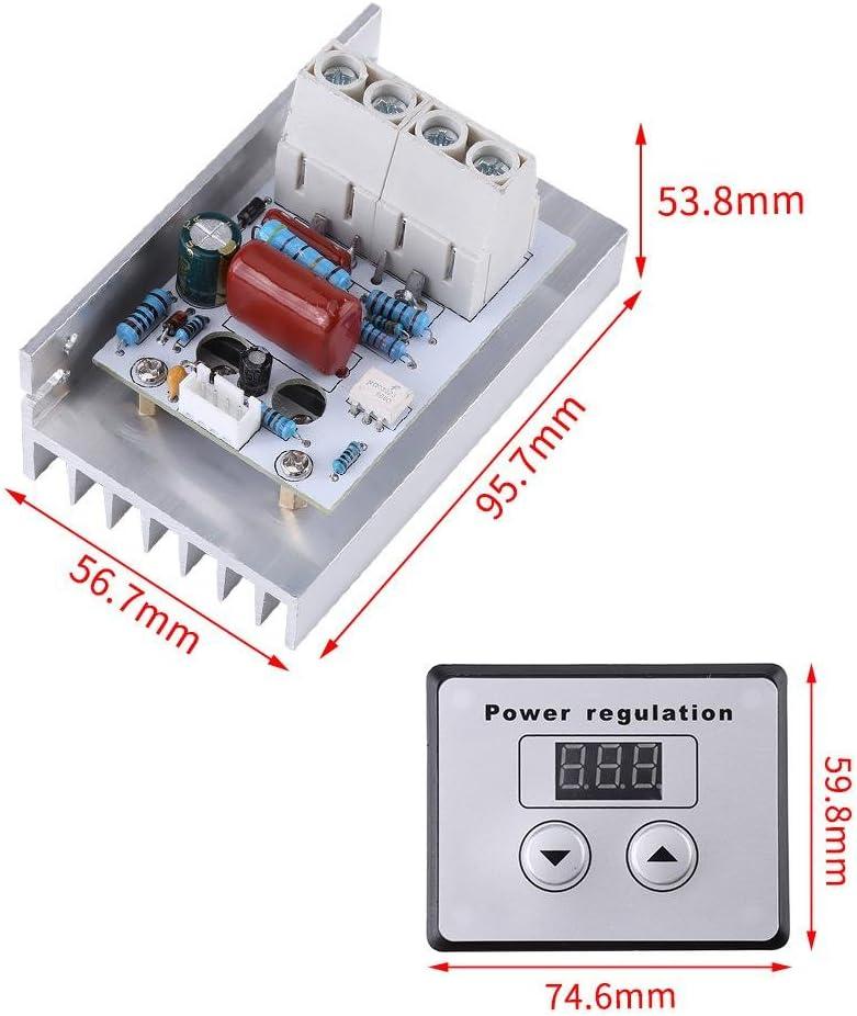 10000W SCR Regulador de Voltaje Digital Módulo de Controlador de SCR AC 220V 80A: Amazon.es: Hogar