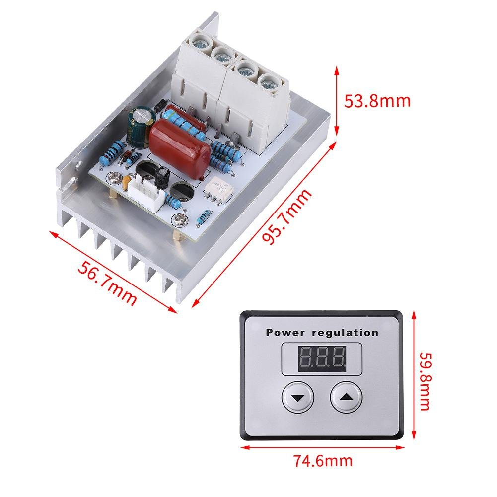 10000w Scr Digital Voltage Regulator Module Board Speed Control High Power Alarm Driver Circuit Design Dimmer Thermostat Ac 220v 80a Business Industry Science