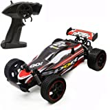 CR 2.4 GHz 1:20 Remote Control Racing Buggy Car Crazy Speed RC Off Road Truck with 4 Wheel Shock Absorbers Powerful Battery Aggressive Drifting/Stunts Car RTR (Red)