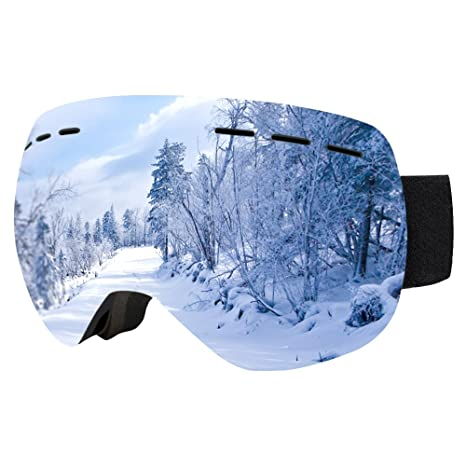 1e6f02cae660 Lonew Ski Goggles PRO - Detachable Dual Layer Anti-Fog Lens and Bendable  Frame