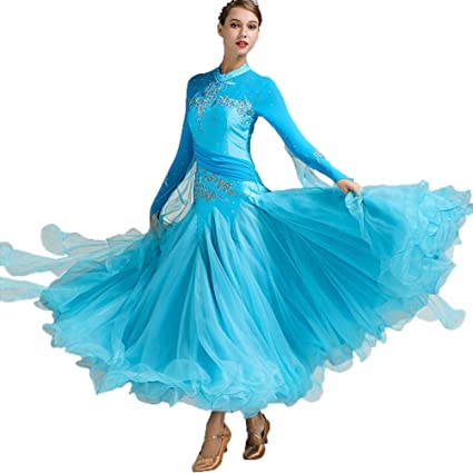 266dc25e7 YuLin Ballroom Dance Dresses for Women Smooth Modern Waltz Tango  Competition Dresses Long Sleeve Embroidery Performance