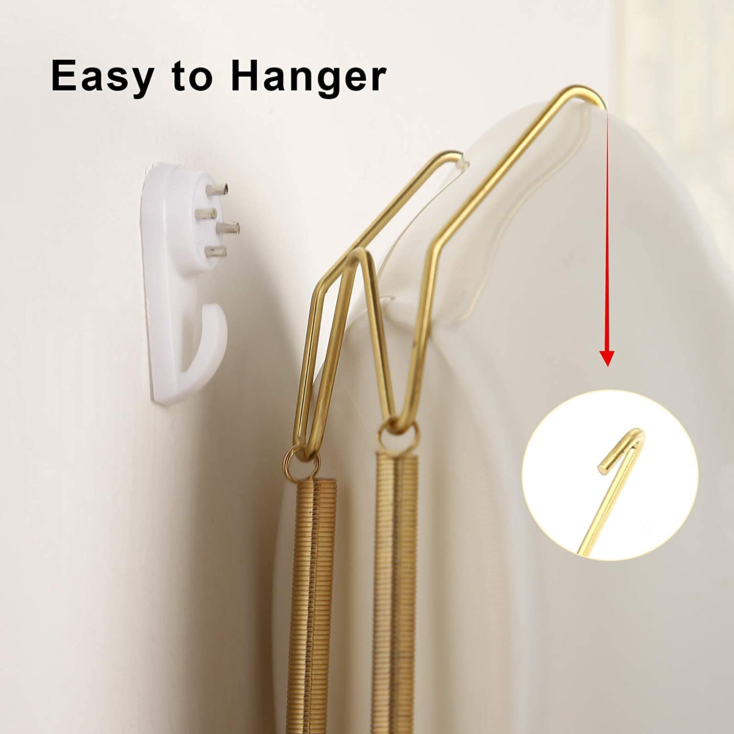 12 Pcs Plate Hangers for the Wall 6 Inch Wall Plate Hangers Decorative Plate Holder Hangers for Decorative Plates Antique China Antique Plates Arts with 12 Pcs Wall Hooks