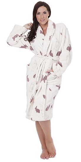 on sale cheap for discount factory authentic Peignoir de Bain en Polaire Ultra Doux Motif Lapin LN628 Femme