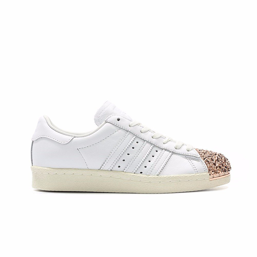 adidas Originals Women's Superstar Metal Toe W Skate Shoe B06XG13CRZ 9.5 B(M) US|White/White/White