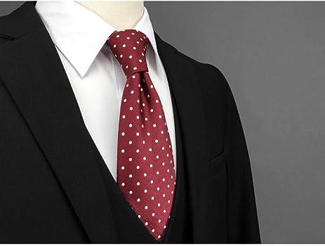 shlax&wing Boda Clásico Hombre Seda Corbatas Para Rojo Blanco ...