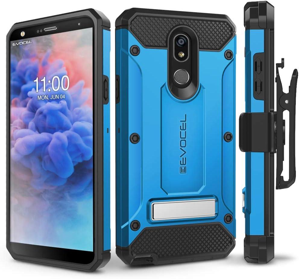 LG Stylo 5 Case, Evocel [Explorer Series Pro] Premium Full Body Case with Glass Screen Protector, Belt Clip Holster, Metal Kickstand for LG Stylo 5, Blue