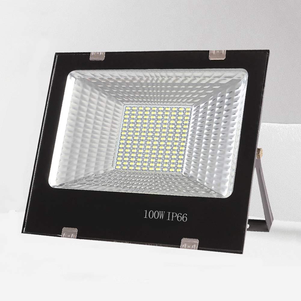 Q-floodlightS Csndice Home Strahler Mit,Im Freien Wasserdichte Garten-Platz High Power Spotlight Baustelle Projektions-Licht IP65 66 (Größe   100W)