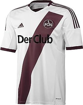 Adidas Camiseta de fútbol para Hombre 1 FC Nürnberg Replica Jugador visitante, White/Collegiate Burgundy, XL, F76859: Amazon.es: Deportes y aire libre
