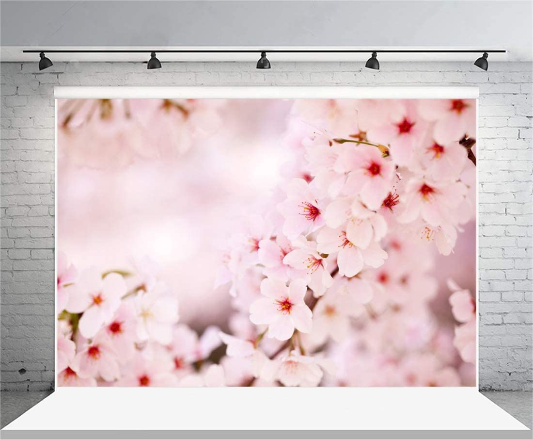 8x8FT Vinyl Backdrop Photographer,Flower,Children Nursery Artwork Background for Party Home Decor Outdoorsy Theme Shoot Props