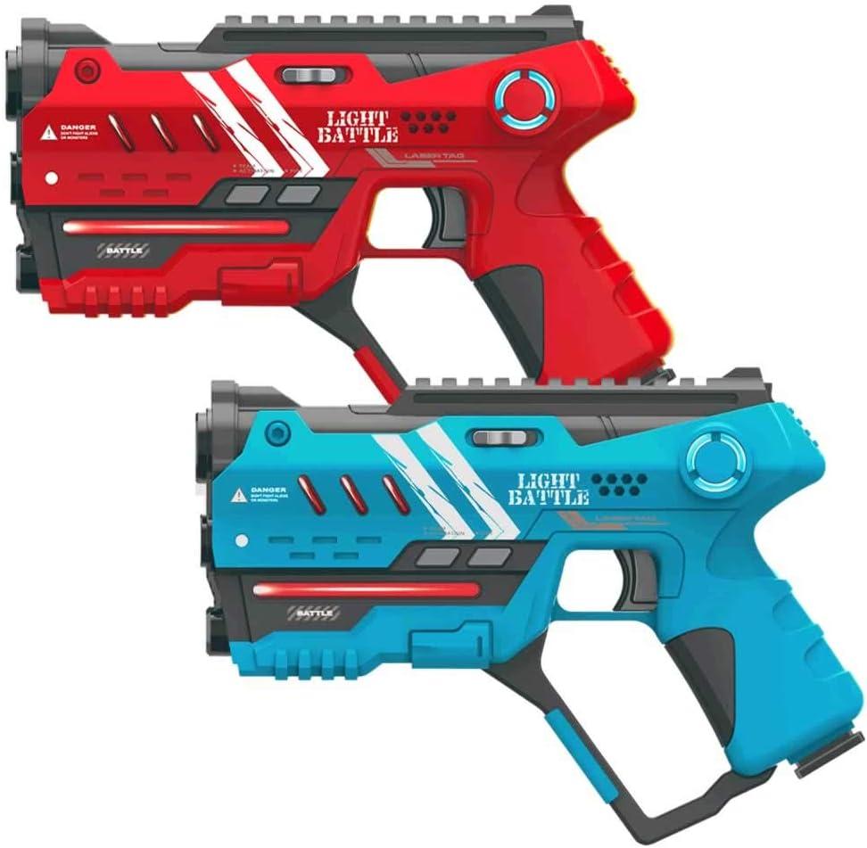 Light Battle 2X Anti-Cheat Laser Combat Game: 1 Pistola Rojo + 1 Pistola Azul - LBAP10224AC