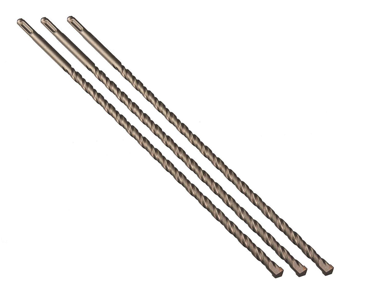 3 St/ück Steinbohrer SDS PLUS 12 x 400 mm mit Hartmetall
