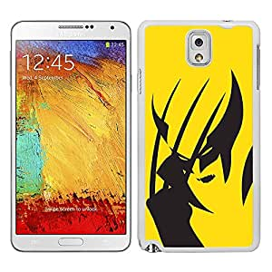 Funda carcasa TPU (Gel) para Samsung Galaxy Note 3 diseño Lobezno superhéroe borde blanco