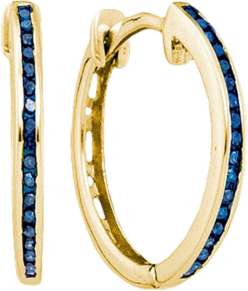 10K Yellow Gold Polished 42mm Round Hoop Earrings