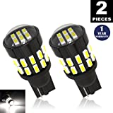 LUYED 2 X 360 Lumens Super Bright 3014 30-EX Chipsets With Lens W5W 194 168 2825 Led Bulbs,Xenon White