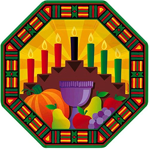- amscan Kwanzaa Multicolored Octagonal Paper Plates, 8 Ct. | Party Tableware