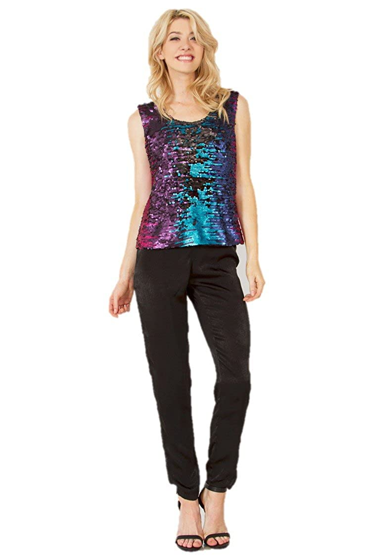 89454d7c0 Taste the Rainbow Sequin Top at Amazon Women's Clothing store: