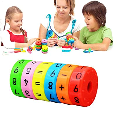 BYBYCD 1Set Axis Magnetic Mathematics Arithmetic Learning Kids Puzzle Educational Cube Toys: Home & Kitchen