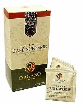 Pack de 12 cajas Organo Gold Gourmet Ganoderma - Café Supremo (20 sobres): Amazon.es: Salud y cuidado personal